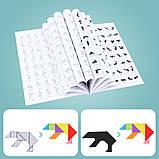 Іграшка головоломка 3в1 Танграм-тетріс-дошка для малювання, фото 5