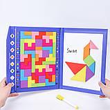 Іграшка головоломка 3в1 Танграм-тетріс-дошка для малювання, фото 4
