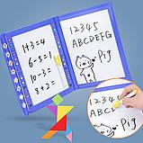 Іграшка головоломка 3в1 Танграм-тетріс-дошка для малювання, фото 2
