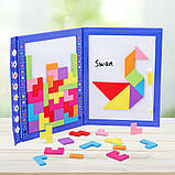 Іграшка головоломка 3в1 Танграм-тетріс-дошка для малювання, фото 3