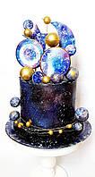Торт Космос без мастики кремовый