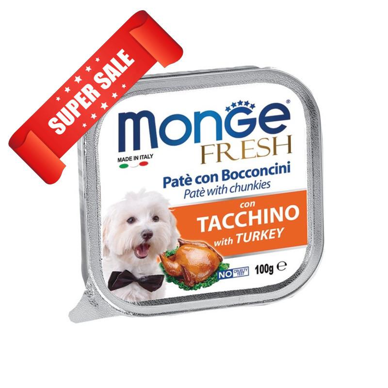 Влажный корм для собак Monge Fresh Turkey 100 г
