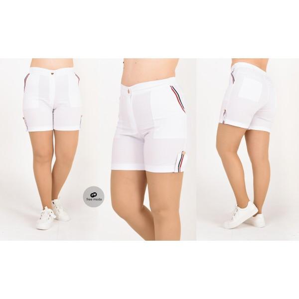 Белые женские летние шорты из бенгалина батал  48-56 размер