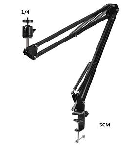 Настольный держатель для кольцевой лампы, микрофона и других аксессуаров