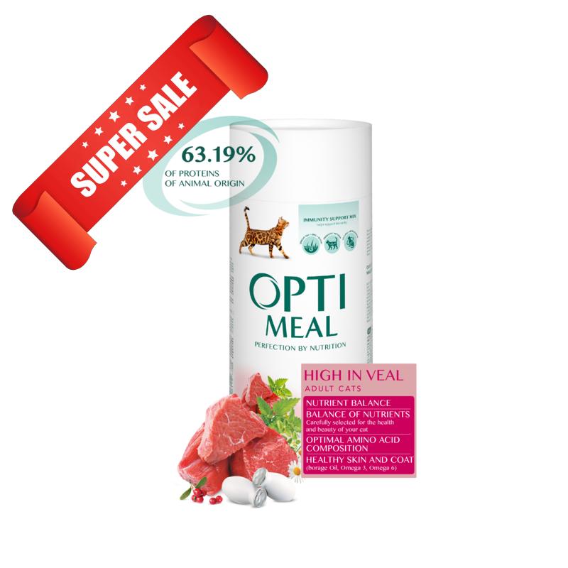Сухой корм для кошек Optimeal Cat Adult High In Veal 10 кг