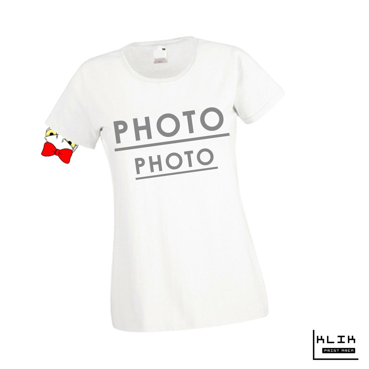 Печать фото на футболке женской. Сублимация