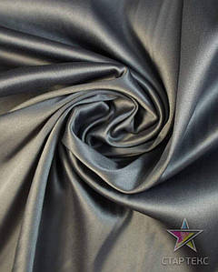 Ткань Атлас тонкий Темно-серый