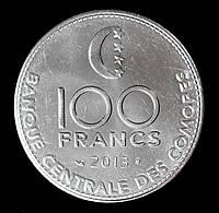 """Монета Коморских островов 100 франков 2013 г. """"Сохранение животного мира"""""""