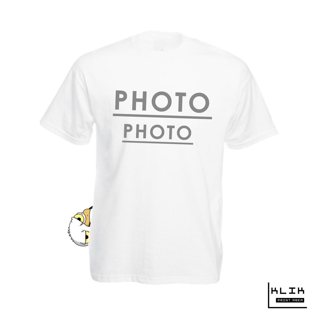 Печать фото на футболке мужской. Сублимация