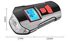 Велосипеный фонарь клаксон спидометр и пульт 800lm USB LCD вело фара, фото 2