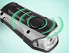 Велосипеный фонарь клаксон спидометр и пульт 800lm USB LCD вело фара, фото 6