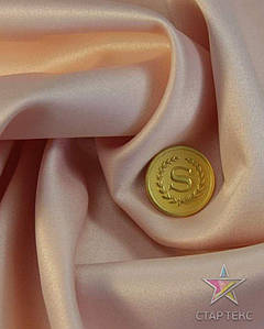 Ткань Атлас тонкий Бежево-персиковый