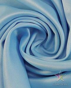 Ткань Атлас тонкий Светло-голубой