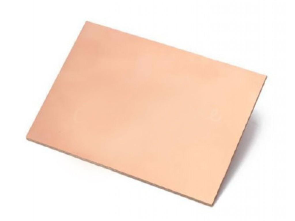 Текстолит фольгированный двусторонний, толщина 1.5 мм, размер 10 на 15 см