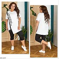 Модный женский спортивный костюм на лето размеры 48-58 арт 102