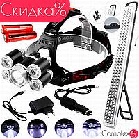 Мощный фонарь налобник налобный фонарик LED Police светодиодный аккумуляторный кемпинговый для палатки в сто