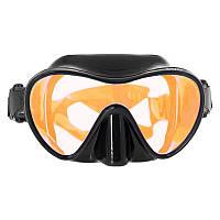 Маска Marlin Frameless Duo Black с просветленным стеклом Orange