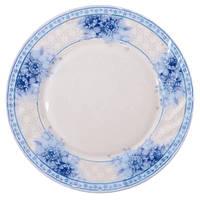 Набор круглих обідніх тарілок Stenson играція 25.4 см 6 шт (MS-1733-4576)