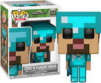 Фигурка Funko Pop Фанко Поп Minecraft Steve in Diamond Armor Майнкрафт Стив в Алмазной броне  MC 322