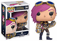 Фигурка Funko Pop Фанко Поп ВИ Лига Легенд  Vi League Of Legends 10 см LоL Vi06