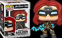 Фигурка Funko Pop Фанко Поп Мстители Игра Чёрная Вдова Avengers Game Black Widow 10 см  G BW 630