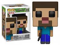 Фигурка Funko Pop Фанко Поп Minecraft Steve Майнкрафт Стив 10cм  MC S316