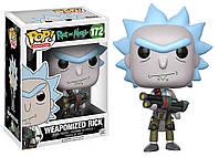 Фигурка Funko Pop Фанко Поп Rick and Morty Weaponized Rick Рик и Морти Вооруженный Рик 10см RM R 172