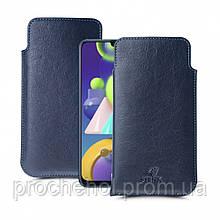 Футляр Stenk Elegance для Samsung Galaxy M21 Синий