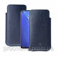 Футляр Stenk Elegance для Realme 6 Синий