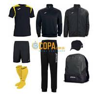 Набор футболиста (box) Joma Champion V (8 предметов) (черно-желтый)