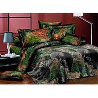 Двуспальное постельное белье Бязь Ranforse (100% хлопок) - Пантера