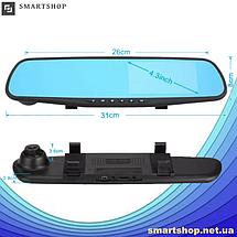 """Автомобильный видеорегистратор DVR-138W FullHD 1080p 4,3"""" - видеорегистратор зеркало заднего вида (2 камеры), фото 3"""
