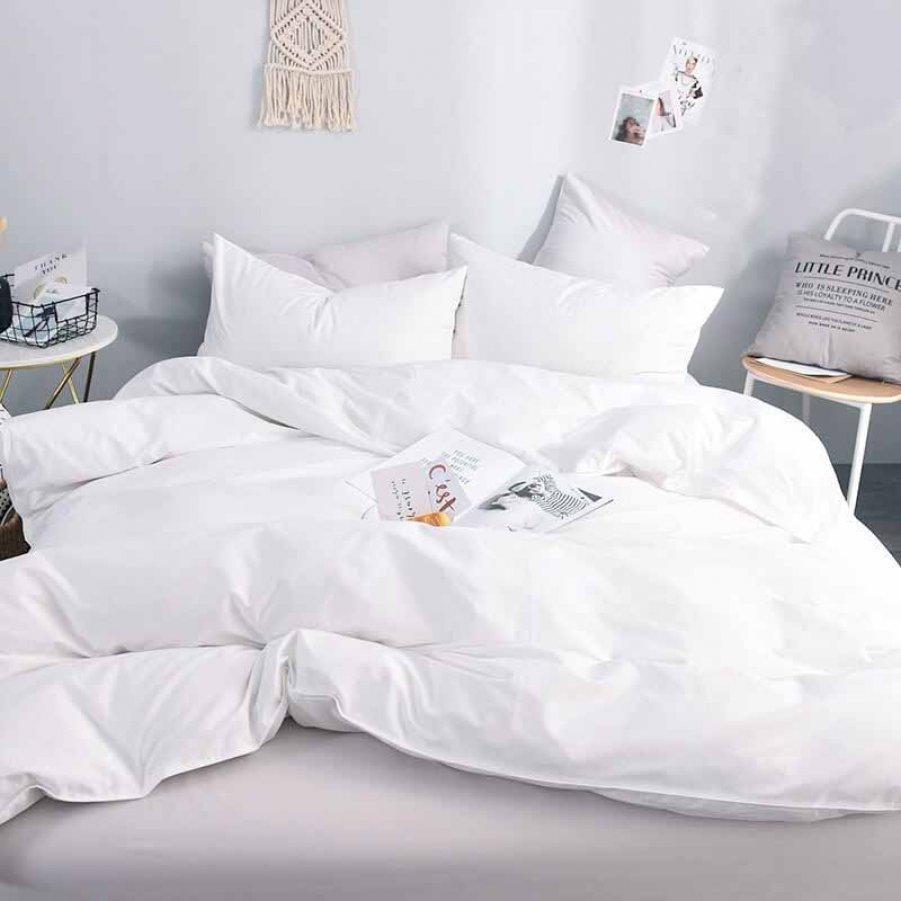 Семейное постельное белье Бязь Gold - Белое однотонное