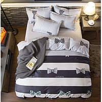 Двуспальное постельное белье Сатин Люкс (100% хлопок) - KWL1922 (50х70)