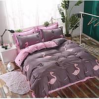 Двуспальное постельное белье Сатин Люкс (100% хлопок) - KWL1901