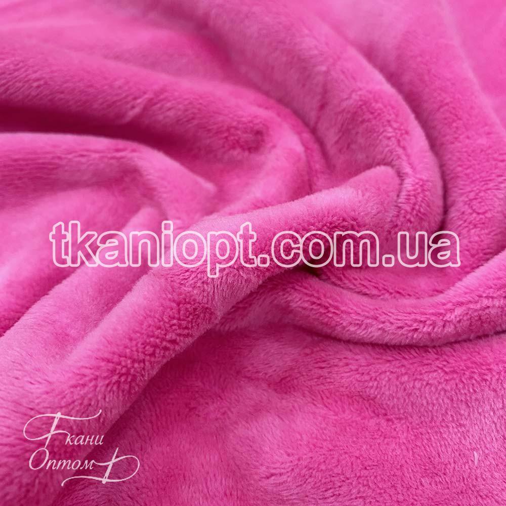 Ткань Мех вельбо (ярко-розовый)