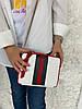 66-ТХ2р Натуральная кожа Сумка женская через плечо Кросс-боди на широком ремне Сумка женская кожаная белая, фото 5
