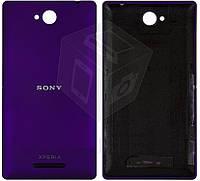 Задняя панель корпуса (крышка) для Sony Xperia C C2305 S39h, фиолетовый, оригинал