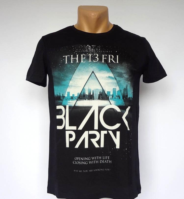 Облегающая черная футболка Just Relax - №1439