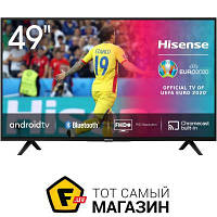 Черный LED телевизор для гостиной 49 Smart TV — Hisense 49B6700PA — c 2 x HDMI, 2 x USB, Bluetooth, cлот PCMCIA, Ethernet, Wi-Fi, доступ к сети