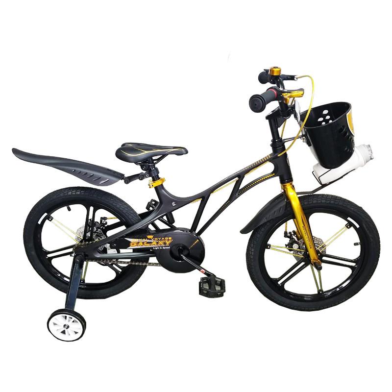 """Велосипед дитячий Royal Voyage Galaxy 18"""" Легка магнієва рама, кошик і пляшечка"""