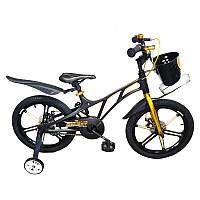 """Велосипед детский Royal Voyage Galaxy 18"""" Легкая магниевая рама, корзинка и бутылочка"""