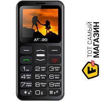Astro A169 Black/Gray мобильный телефон для пожилых людей, недорогие классический GPRS черный