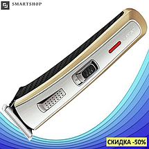 Машинка для стрижки волос Gemei GM-6078 - Профессиональная беспроводная аккумуляторная машинка для стрижки, фото 2
