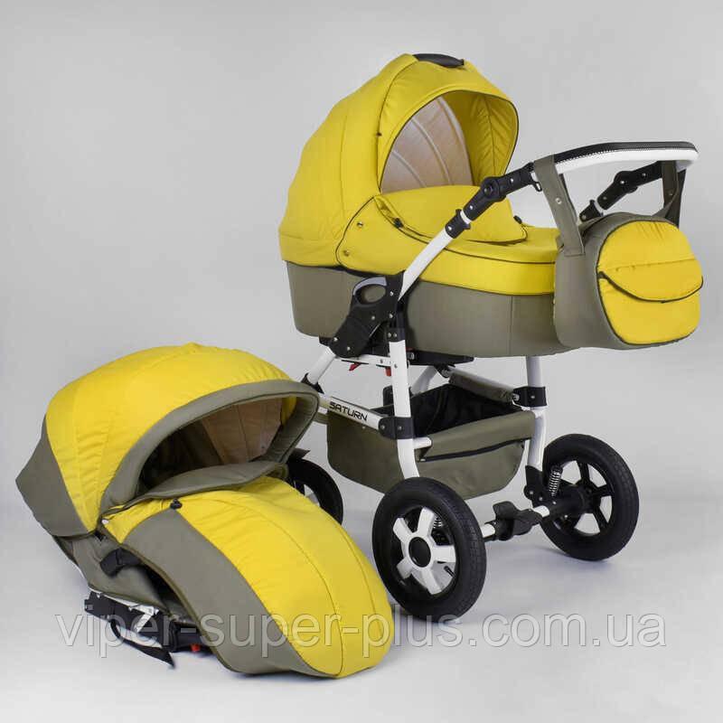 Коляска для детей  Saturn НОВАЯ № 0140-С58 (1)  цвет жёлтый