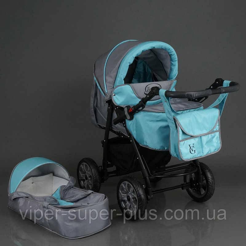 Коляска для детей Viki / 86- C 20 /серо-бирюзовый/