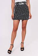 Мини юбка в горох LUREX - черный цвет, L (есть размеры), фото 1