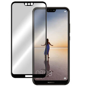 Защитное цветное стекло Mocolo (full glue) на весь экран для Huawei P20