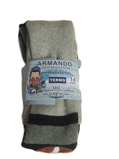 Колготки махровые Armando для мальчиков оптом, размеры 4/6,7/9(12)10/12 лет, арт. 8607, 8608