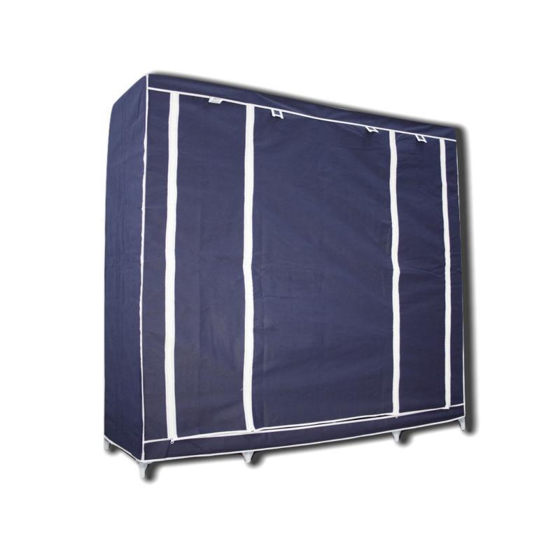 Портативный  шкаф-органайзер (3 секции), синий